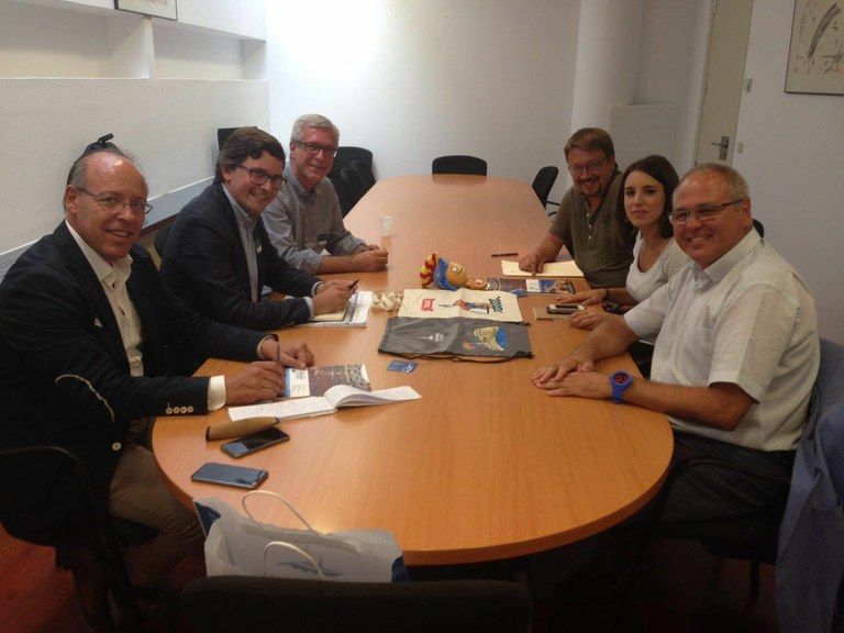 L'alcalde de Tarragona es reuneix amb els diputats d'En Comú Podem i Unidos Podemos, per explicar-los l'estat actual dels Jocs Meditarranis