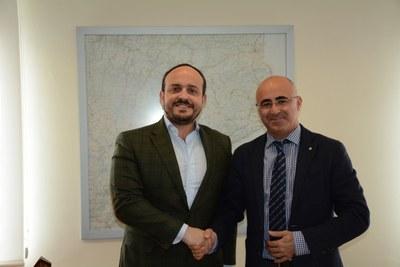 Trobada entre el primer tinent d'alcalde, Alejandro Fernández, i el delegat del Govern, Òscar Peris