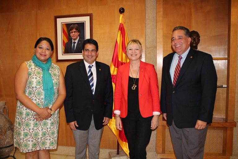 Visita de l'alcalde de Santa Tecla de la República d'El Salvador a l'Ajuntament de Tarragona
