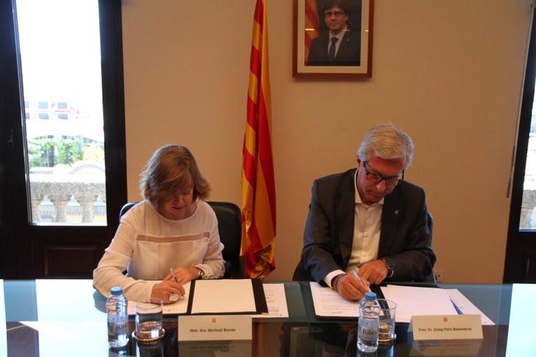El Departament de Governació i la Fundació Tarragona 2017 signen un conveni en matèria de diversitat religiosa en el marc dels XVIII Jocs Mediterranis