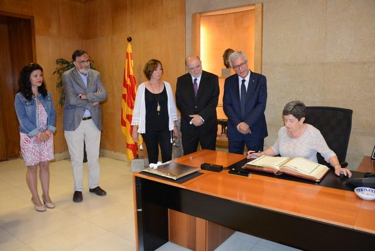 Primera visita protocol·lària de la delegada del govern espanyol Teresa Cunillera