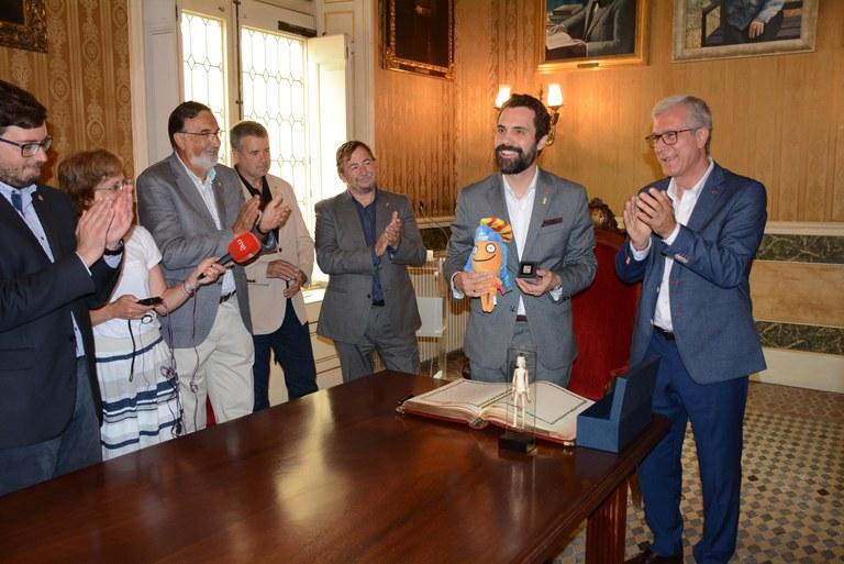 Visita institucional del president del Parlament de Catalunya Roger Torrent