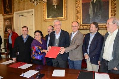 L'Ajuntament de Tarragona, l'ICAC, la URV i Ematsa signen un conveni de col·laboració per difondre el cicle integral de l'aigua en l'àmbit de l'arqueologia clàssica i el patrimoni històric