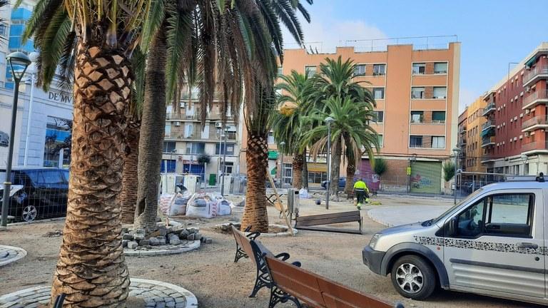 L'Ajuntament implementa millores a la plaça dels Infants