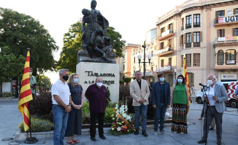 L'Ajuntament recorda la Guerra del Francès amb l'habitual ofrena al Monument als Herois de 1811