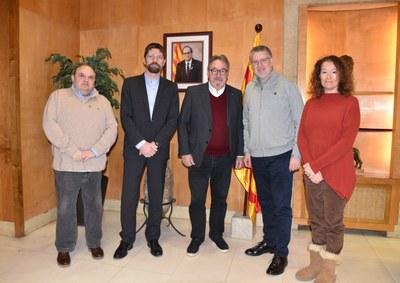 Visita institucional dels representants de l'Institut Català d'Investigació Química