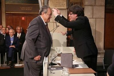 Nota de condol per la mort de Josep Sendra i Navarro