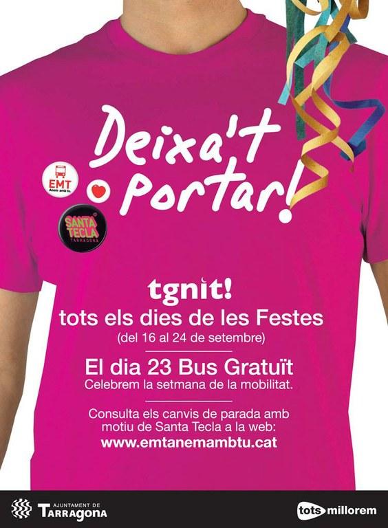 El 23 de setembre els autobusos de l'EMT seran gratuïts