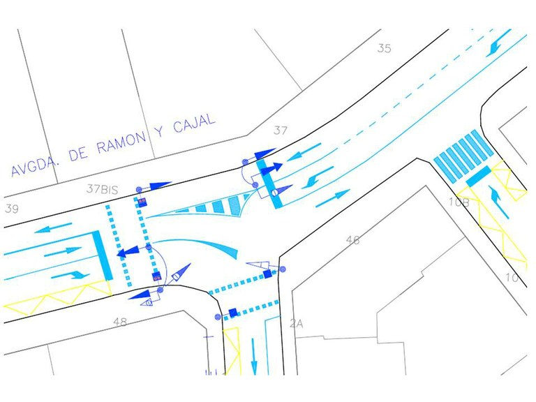 La cruïlla de Ramón y Cajal i Jaume I estrena nova regulació semafòrica