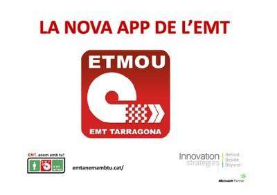 """L'EMT presenta """"Etmou"""" la nova aplicació amb un disseny innovador i informació amb temps real"""
