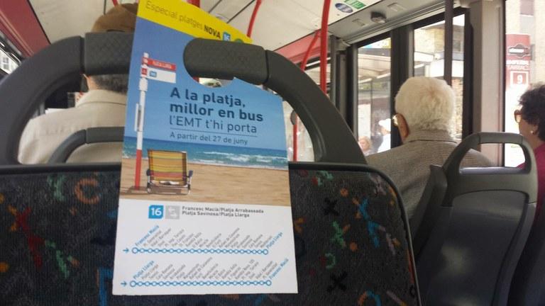 Dilluns 26 de juny comença el servei bus-platja ampliant recorregut