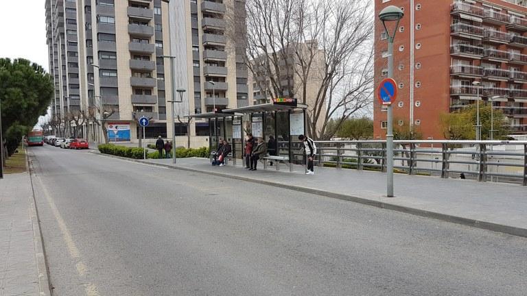 Es podrà accedir als autobusos de la línia 8 de l'EMT per les dues primeres portes