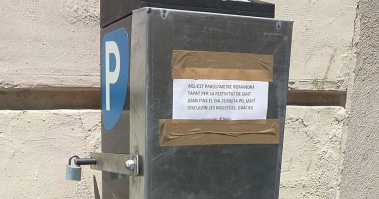 La zona d'aparcament regulada serà gratuïta per Sant Joan