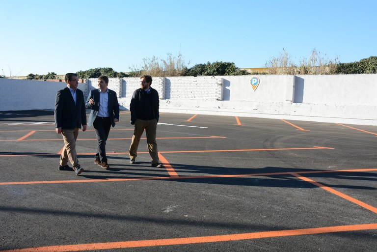 Avui s'ha posat en funcionament el nou aparcament dissuasiu del passeig de la Independència