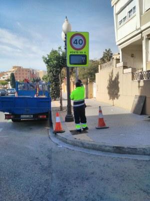 L'Ajuntament instal·la el primer radar informatiu a la Via Augusta, a l'alçada de la Baixada de la Beneficència