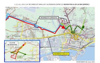 Alteracions de trànsit aquest diumenge a causa de la SB Hotels Marató de Tarragona