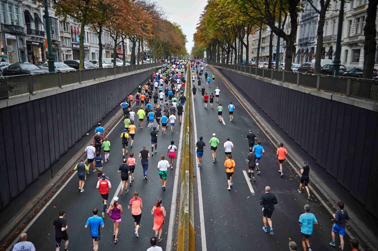Dispositiu de trànsit de la 28a Mitja Marató