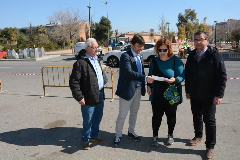 La Conselleria de Mobilitat instal·la un pas de vianants regulat amb semàfor al carrer Riu Fluvià