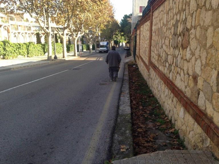 Reordenació del trànsit al camí de la Cuixa