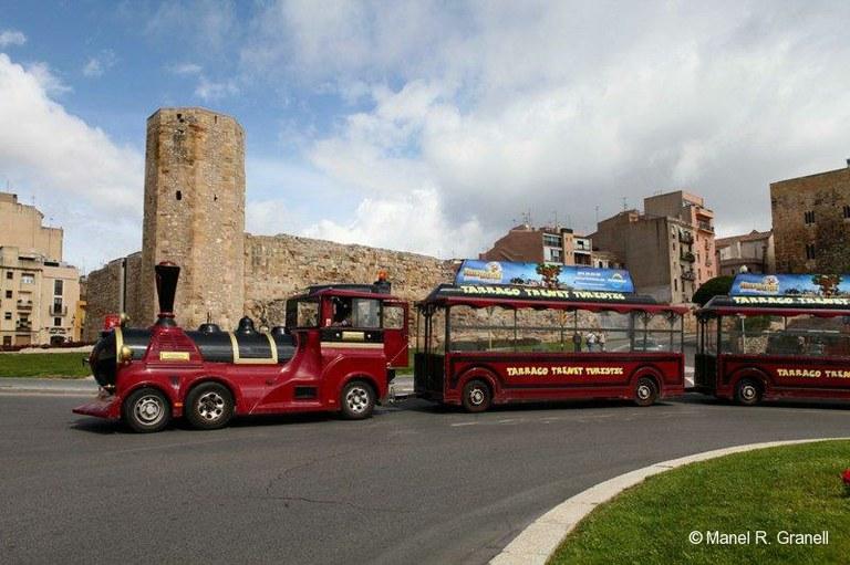 Tancat l'accés de vehicles a la Part Alta pel portal de Sant Antoni