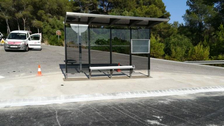 Entra en funcionament la nova parada d'autobús del Pont del Diable