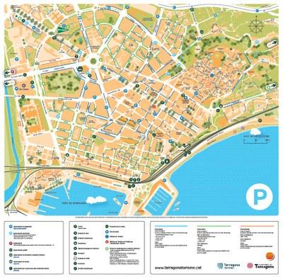 Tarragona Turisme edita un plànol turístic d'aparcaments de la ciutat