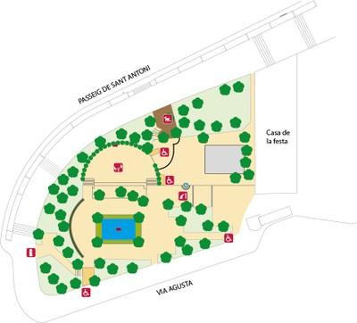 Plànol del Parc de la Reconciliació