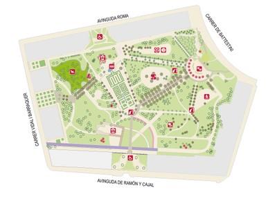 Plànol del Parc de Rafael Puig i Valls