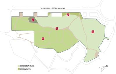 Plànol del Parc de Sant Pere i Sant Pau