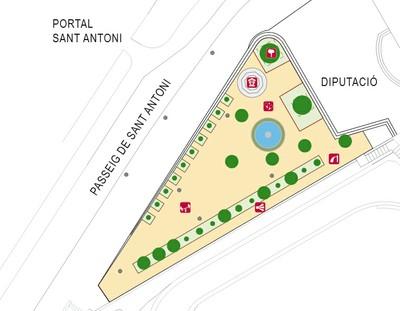 Plànol dels Jardins de Sant Antoni