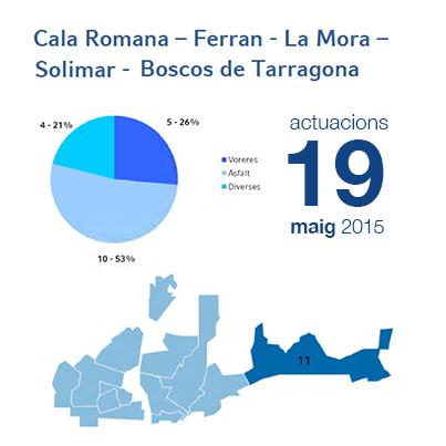 Estadístiques BIR maig - Cala Romana