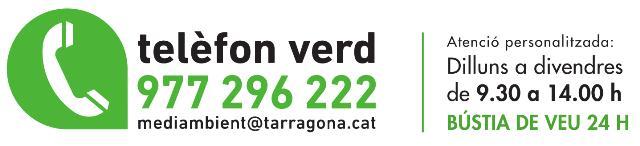 Telèfon verd - 977 296 222