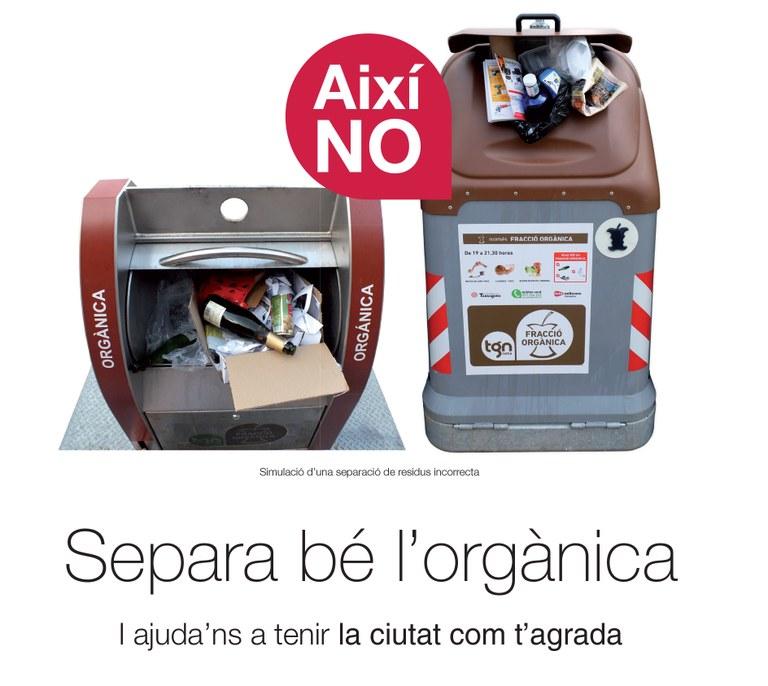 La campanya 'Separa bé l'orgànica' segueix informant i repartint l'equip de reciclatge a les llars tarragonines