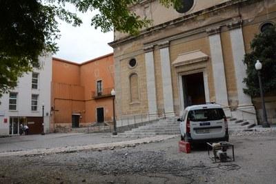 L'Ajuntament de Tarragona inicia les obres d'arranjament de la plaça de l'església de Sant Joan