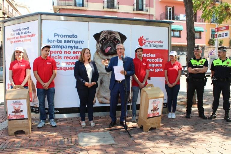 """L'Ajuntament engega la campanya """"Em comprometo amb Tarragona"""", per acabar amb l'incivisme"""