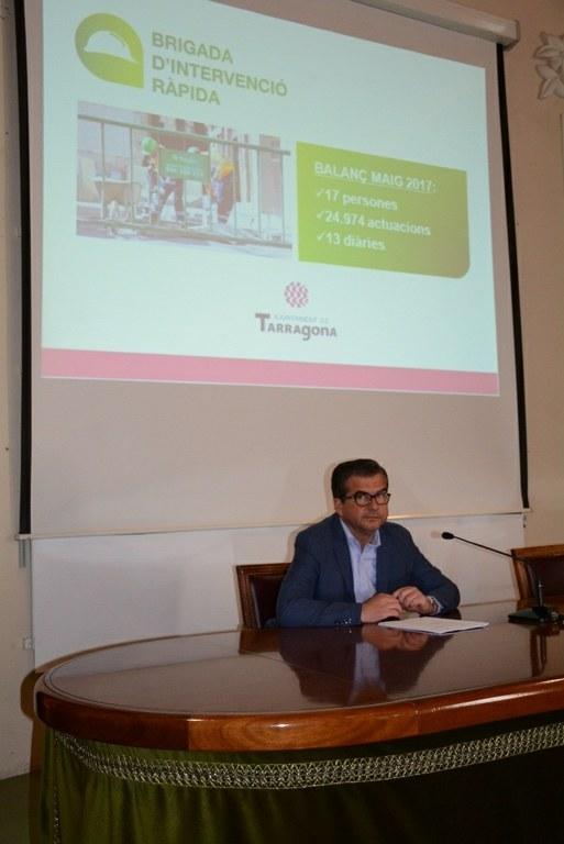 La brigada d'intervenció ràpida realitza 13 actuacions diàries a la ciutat de Tarragona