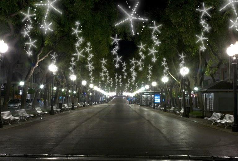 La Rambla Nova renovarà íntegrament la il·luminació de Nadal