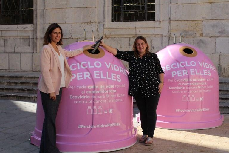 """L'Ajuntament i Ecovidrio presenten la campanya """"Recicla vidre per elles"""" amb motiu del Dia Mundial del Càncer de Mama"""