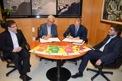 Els Jocs Mediterranis i Ecoembes signen un conveni per al foment de la recollida selectiva i el reciclatge de residus
