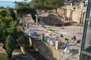 La Brigada d'Intervenció Ràpida inicia les tasques de reconstrucció de la pèrgola del Parc de les Granotes
