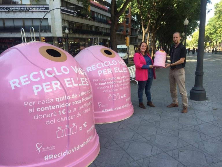 La campanya «Recicla vidre per elles» recull 2.574 kg de vidre a Tarragona