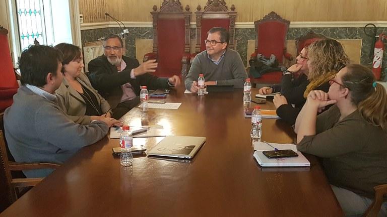 Primera reunió de la Comissió de Treball d'Espais Públics i Urbanisme de l'Ajuntament i la FAVT