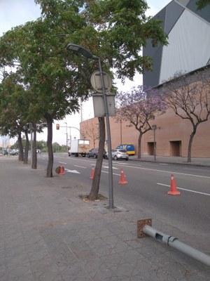 Tarragona inicia el canvi dels 126 punts de llum del carrer Ramon i Cajal per fanals amb tecnologia led