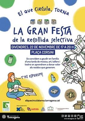 Ajornada la Festa de la Recollida Selectiva d'avui a la plaça de Corsini