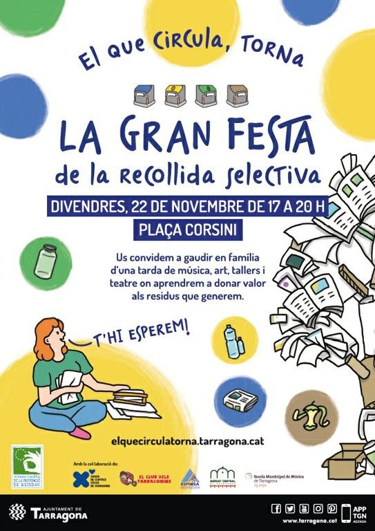 Demà, festa de la recollida selectiva a la plaça de Corsini