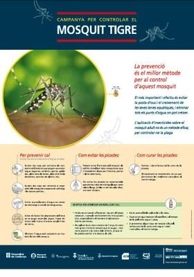 L'Ajuntament s'afegeix a la campanya per evitar la propagació del mosquit tigre