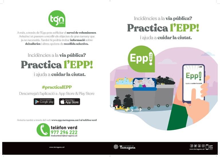 L'Ajuntament de Tarragona incorpora millores a l'Epp! que permetran fer un seguiment de la incidència i incloure més informació a l'avís