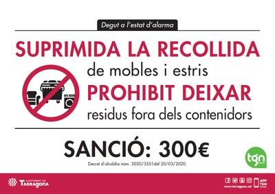 Vehicles de Protecció Civil avisaran per megafonia que es multaran les persones que deixin la brossa fora del contenidor