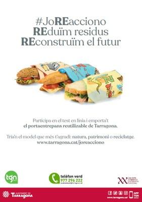 L'Ajuntament de Tarragona comença a repartir 6.400 unitats de portaentrepans reutilitzables i rentables