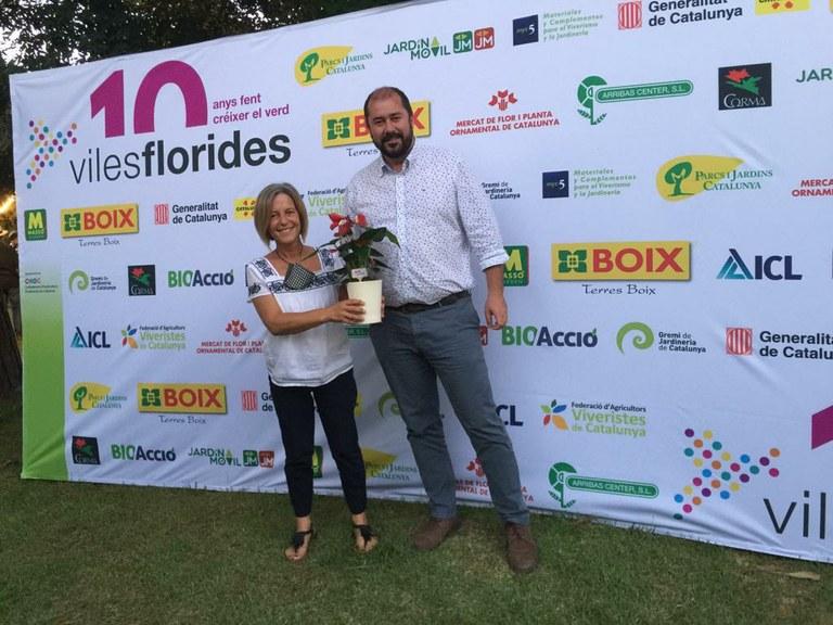 Tarragona rep tres Flors d'Honor de les Viles Florides